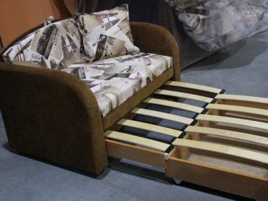 Детский минидиван - кровать Малина Октябренок банни 07 2