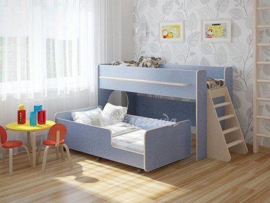 Детская выкатная двухъярусная кровать Легенда 23.3 1