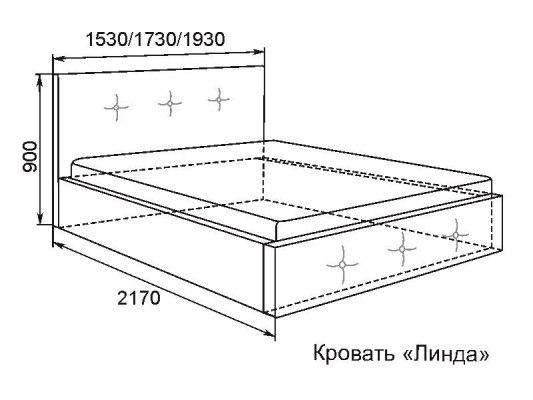 Кровать Арника Линда 3