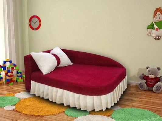 Детский раскладной диван - кушетка М-Стиль Аленка 1