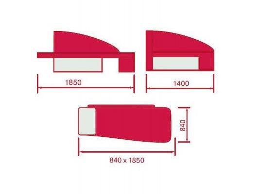 Детский раскладной диван - кушетка М-Стиль Аленка 2