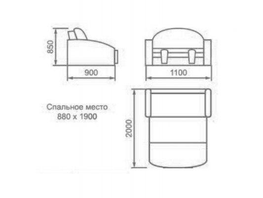 Детский раскладной диван М-Стиль Амур 2