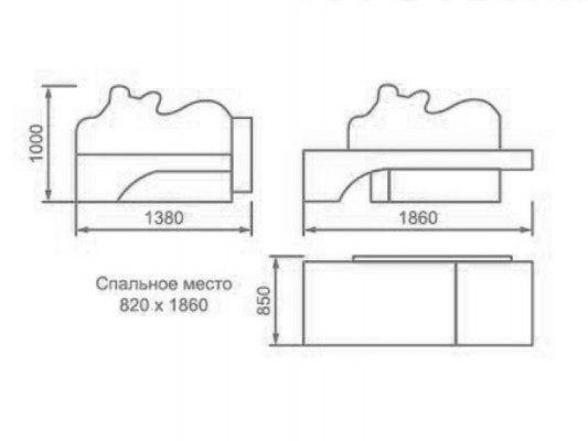Детский раскладной диван М-Стиль Боня 2