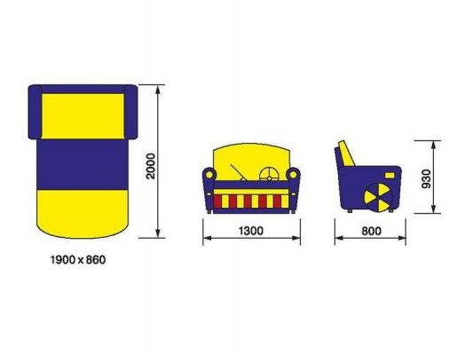 Детский раскладной диван М-Стиль Бумер 3
