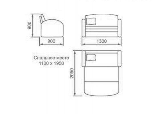 Детский раскладной диван М-Стиль Волна 2