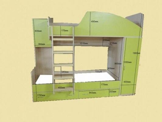 Кровать двухъярусная Ярофф Юниор 2 4