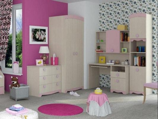 Кровать Интеди детская ИД 01.94 Pink (с выдвижными ящиками) 4