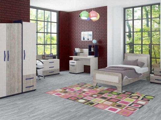 Кровать Интеди детская ИД 01.265 Тайм с мягким элементом 2
