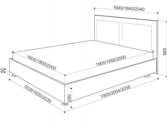 Кровать Промтекс-Ориент Renli Marla 2 5