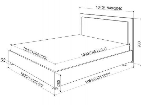 Кровать Промтекс-Ориент Renli Райс 1 5