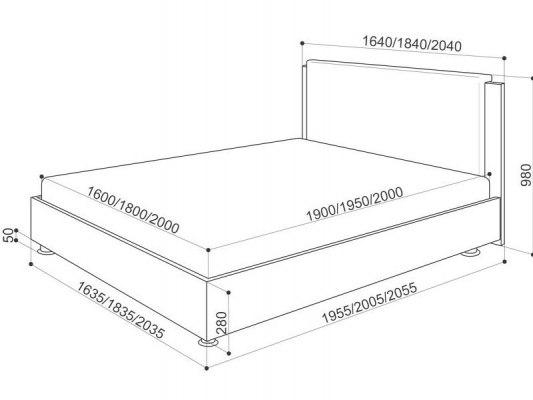 Кровать Промтекс-Ориент Renli Китон 1 5