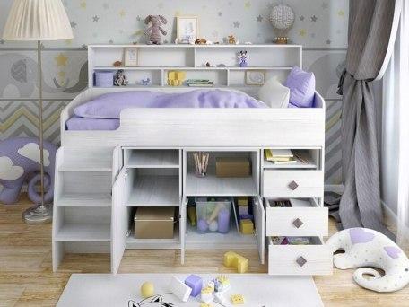 Кровать чердак Ярофф Малыш 5 5