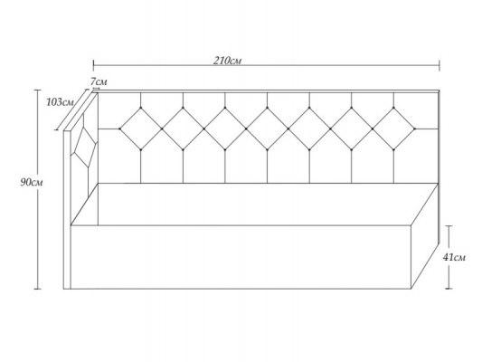 Кровать Димакс Бриони с подъемным механизмом 3