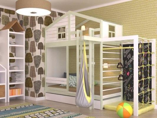 Кровать с игровым комплексом KidVillage Финляндия-4 1