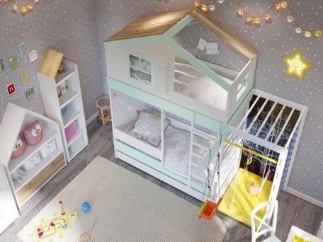 Кровать с игровым комплексом KidVillage Финляндия-2 3