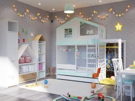 Кровать с игровым комплексом KidVillage Финляндия-2 1