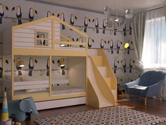 Кровать с горкой KidVillage Финляндия-6 2
