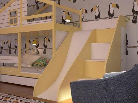 Кровать с горкой KidVillage Финляндия-6 3