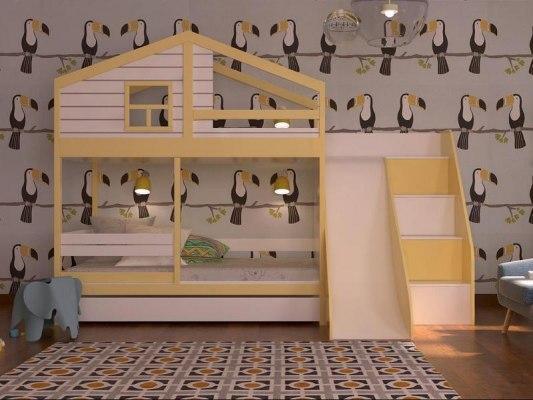 Кровать с горкой KidVillage Финляндия-6 1