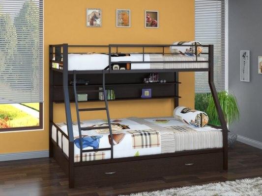 Кровать двухъярусная металлическая Гранада-1ПЯ 1