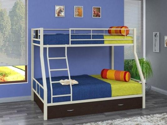 Кровать двухъярусная металлическая Гранада-1Я 1