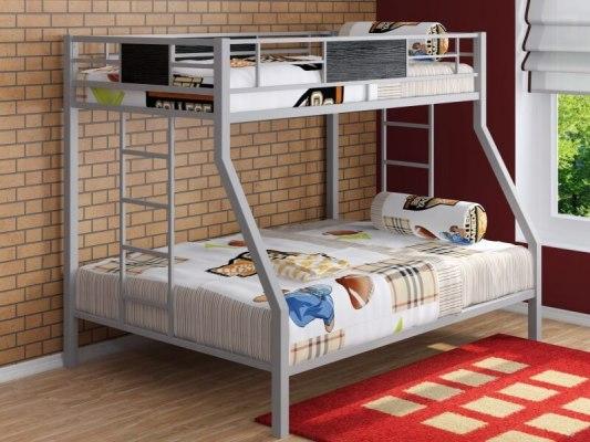 Кровать двухъярусная металлическая Гранада 2