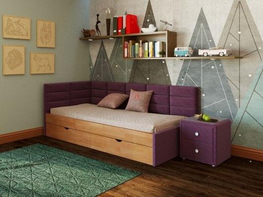 Кровать угловая PinoLetto Kare ( Каре ) 1
