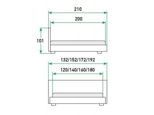 Кровать Райтон Life 1 Box с боковым подъемным механизмом 2