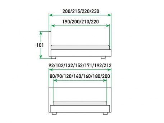Кровать Райтон Life 2 Box с подъемным механизмом 2