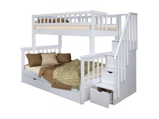 Кровать детская двухъярусная из массива дерева Vita Mia Leila ( Лейла ) 3 места 5