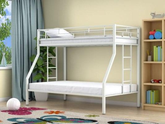 Кровать двухъярусная металлическая Милан ( для детей и взрослых ) 1