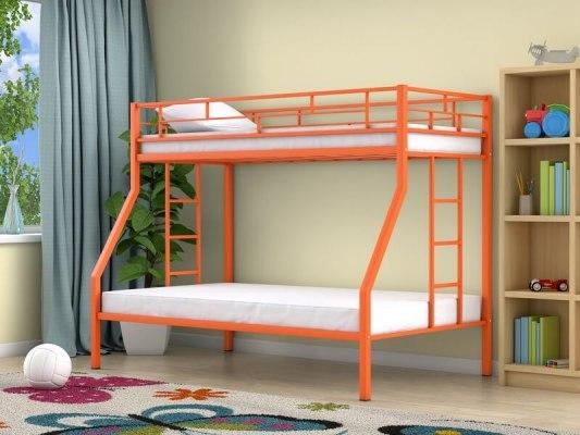 Кровать двухъярусная металлическая Милан ( для детей и взрослых ) 4