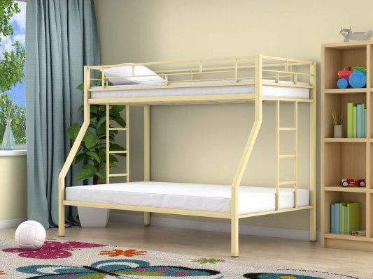 Кровать двухъярусная металлическая Милан ( для детей и взрослых ) 5