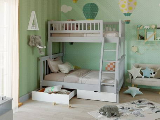 Двухъярусная 3-х местная кровать Vita Mia Modern (Модерн) 2