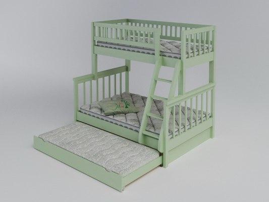 Двухъярусная 3-х местная кровать Vita Mia Modern (Модерн) 3