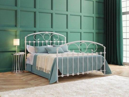 Кровать металлическая DreamLine Rosaline (2 спинки) 1