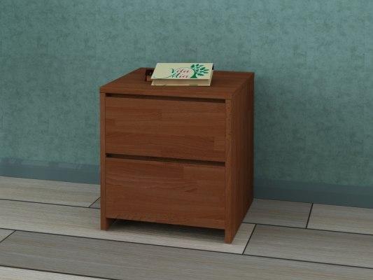 Тумба прикроватная деревянная Vita Mia Mizuki (Мизуки) 2 ящика 2