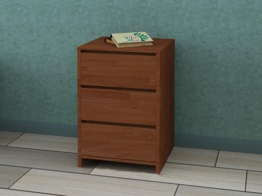 Тумба прикроватная деревянная Vita Mia Mizuki (Мизуки) 3 ящика 2