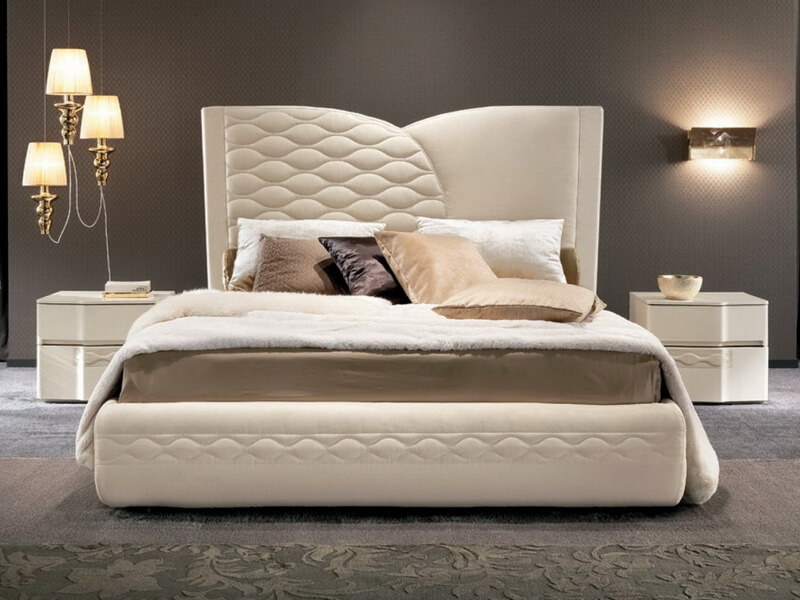 кровати с мягкими изголовьями фото